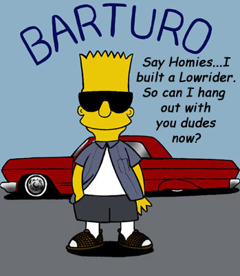 bart simpson welcomes the homies